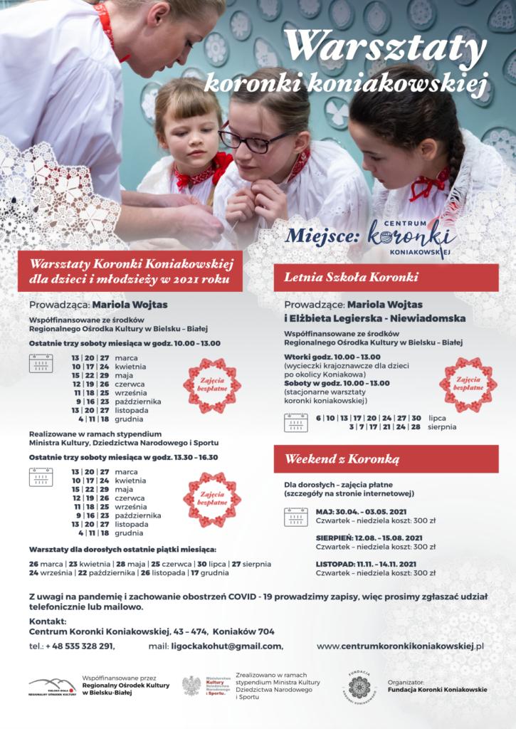 Warsztaty koronki koniakowskiej w 2021r.